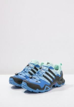 Adidas Zapatos de senderismo TERREX SWIFT R GTX ray azul/negero/ice verde_016